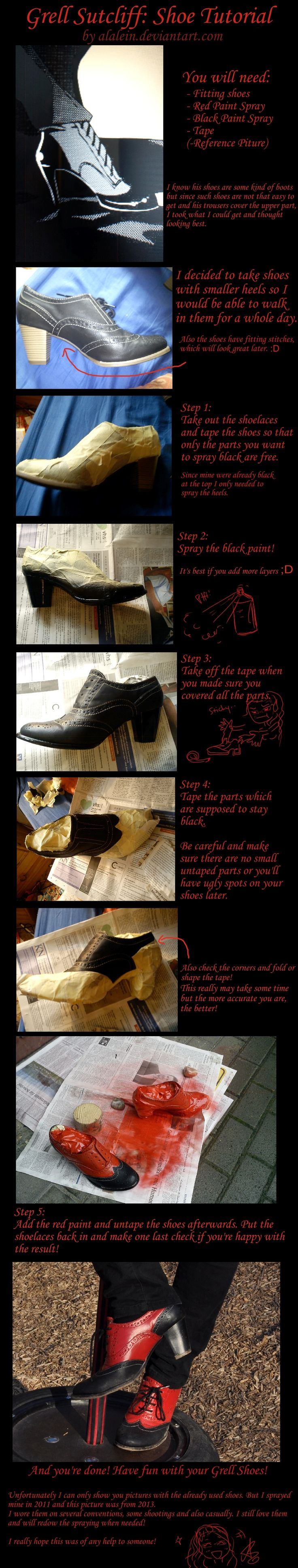 Grell Sutcliff Shoe Tutorial by Alalein.deviantart.com on @deviantART