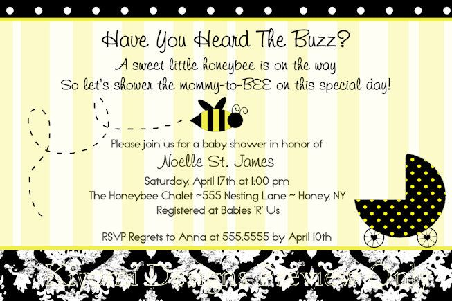 spelling bee invitation template - mommy to bee bumble bee themed baby shower or diaper party
