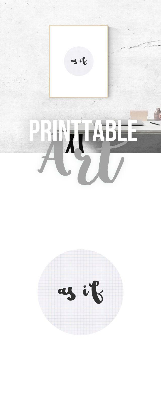 Printable As If Art