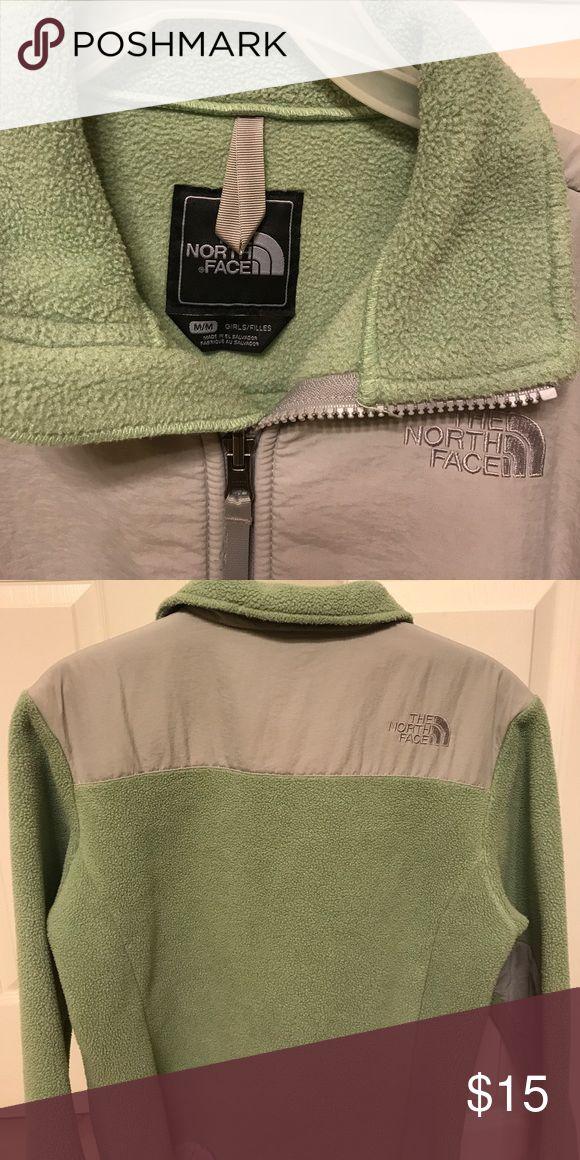 Girls Medium North Face Jacket Green and grey medium girls north face jacket. North Face Jackets & Coats Puffers