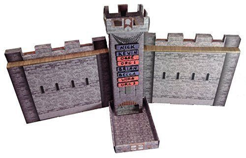 Amazon.com: Castle Keep Dice Tower, 2 Castle Wall DM Screens, and 3 Magnetic Initiative Turn Trackers: Toys & Games