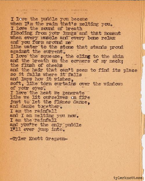 Typewriter Series 357 by Tyler Knott Gregson