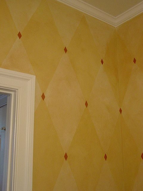 harlequin faux walls by Doherty Painting, via Flickr