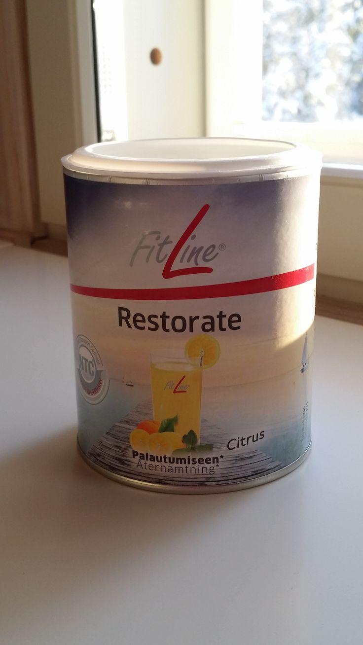 FitLine Restorate - palauttava iltajuoma, mikä sisältää mineraaleja ja hivenaineita. Auttaa palautumisessa rasituksen jälkeen. http://524387.well24.com/