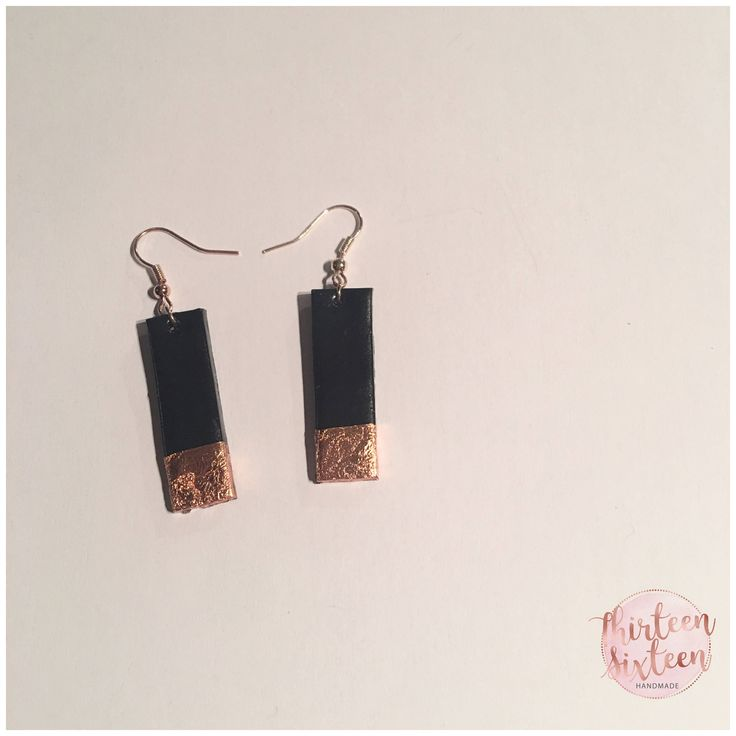 Rectangle Earrings by thirteensixteen on Etsy