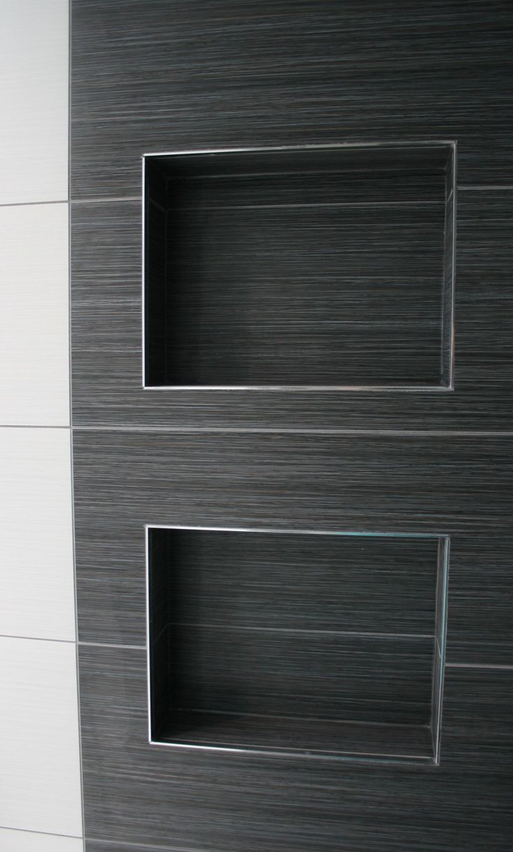 Niches in bathroom walls - Shower Niche Custom Built Shower Niches With Stainless Steel Trim Edging Lissee Interiors