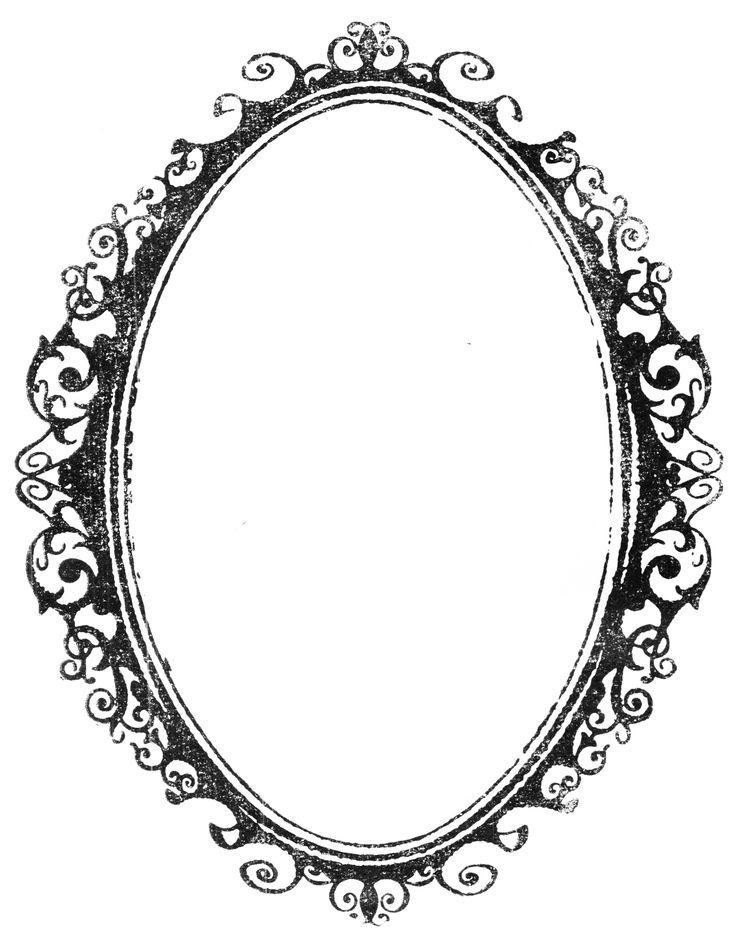 Ornate Oval Frame Drawing | VINTAGE BORDER stock 1 by ...