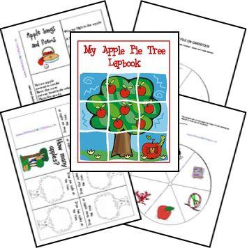 FREE My Apple Pie Tree Lapbook