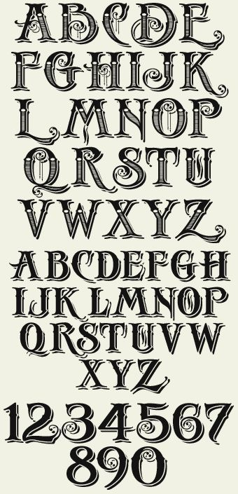 Más estilos de letra vintage. Letterhead Fonts / LHF Antique Shop / Decorative Fonts