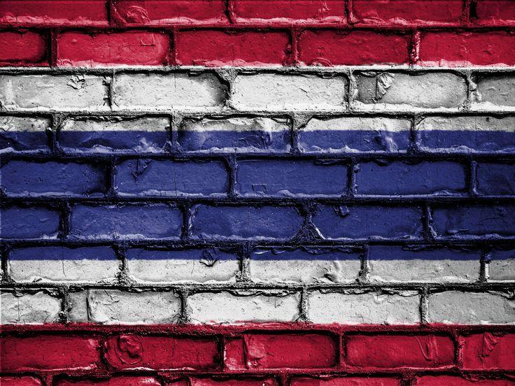 #banner #brick #bricks #country #emblem #flag #nation #national #patriot #patriotic #patriotism #symbol #thailand #wall 4k