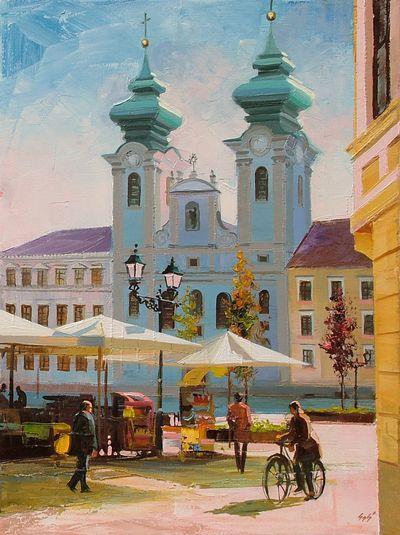 reggeli napsütés Győrben