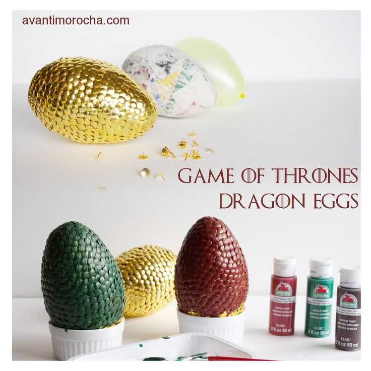DIY Game of Thrones Dragon Eggs using water balloon and thumbtacks, check the tutorial on my blog /