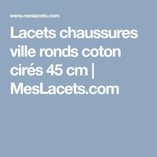 Lacets chaussures ville ronds coton cirés 45 cm | MesLacets.com