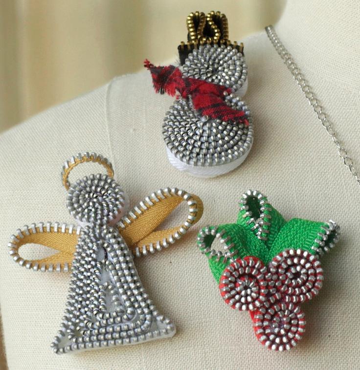 zipper ornaments