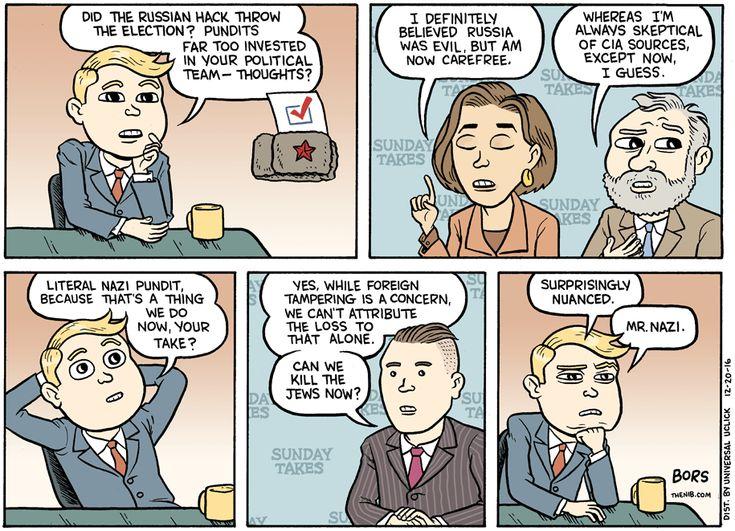 Cartoon: Political hacks talk Russia hacks