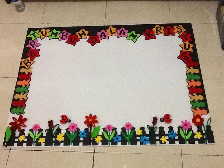Colourfull bulletin board  (Majalah Dinding/Papan Buletin)