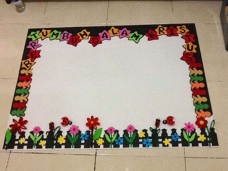 Colourfull bulletin board  (Majalah Dinding/Papan Buletin)