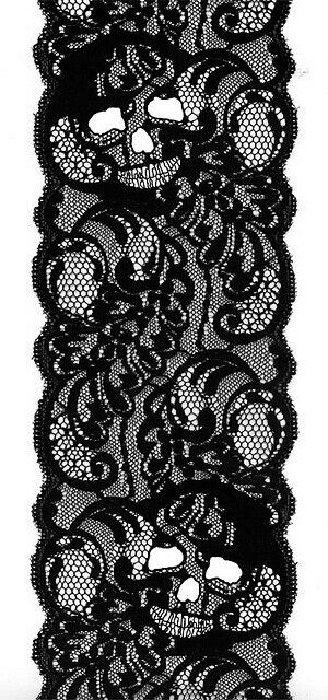 Skull lace... I can make something awesome with this!