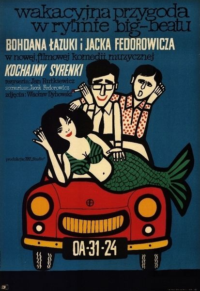 Love the Mermaids Kochajmy Syrenki Stachurski Marian Polish Poster