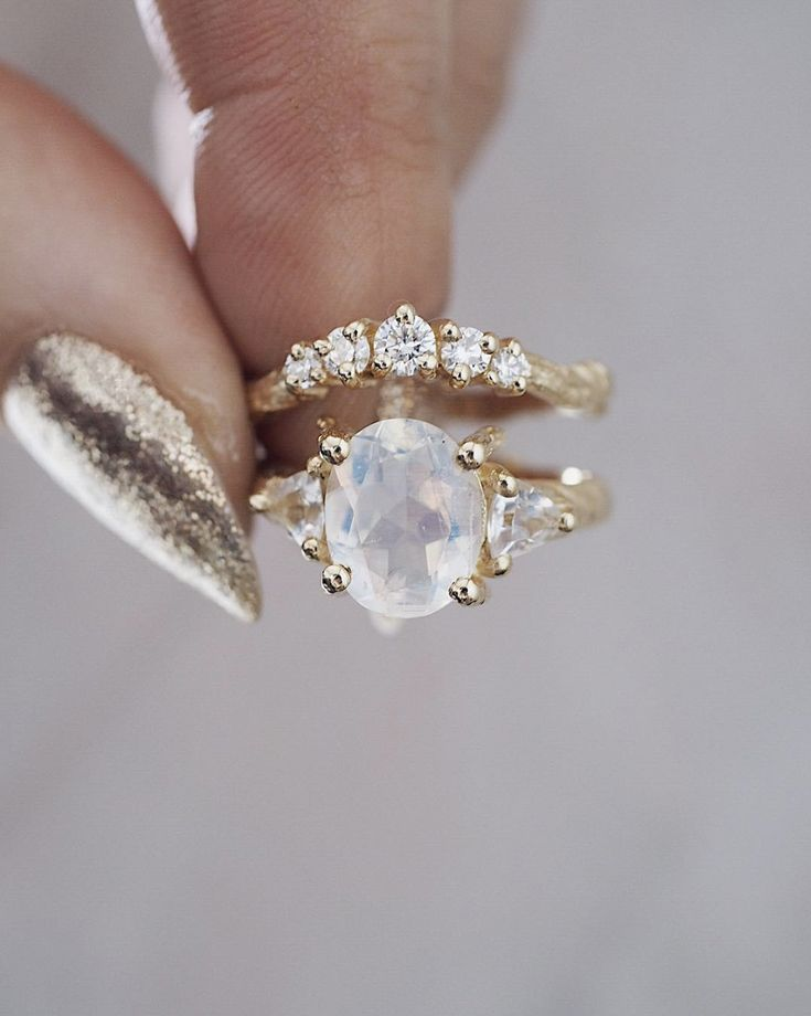 When he chose this beauty I asked him was he sure? This iridescent moonstone beauty isn't for everyone but he said he knew this was meant to be hers ❤️ they are getting married this weekend with this Crown of Love and I'm sure it's going to be incredible  . Happy Friday! Hope your weekend is magical ✨
