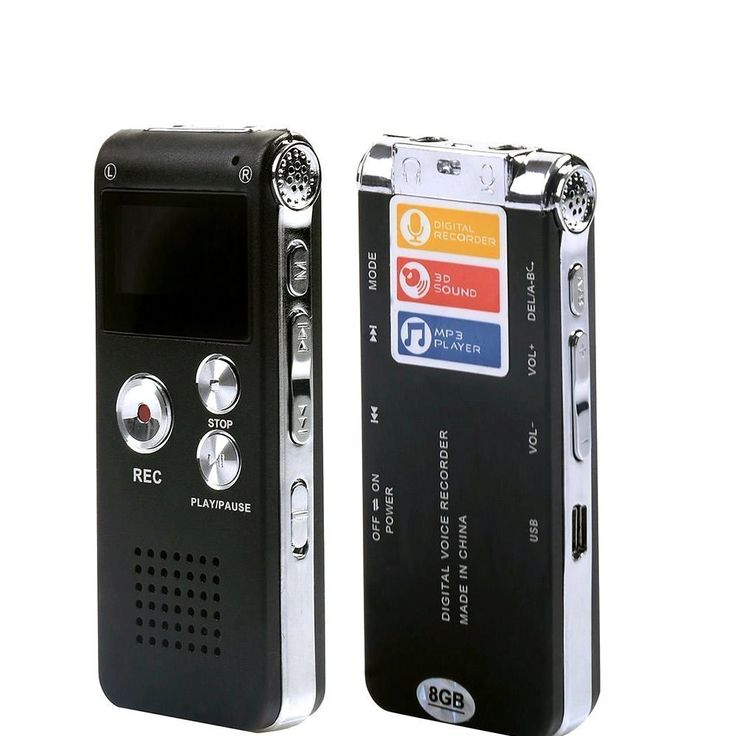 eBoTrade Digital Audio Voice Recorder / Dictaphone / MP3 Player -8GB / 650HR / Multifunctional Rechargeable Dictaphone Player with Built-In Speaker
