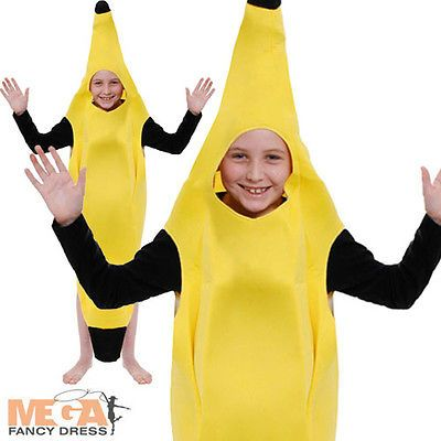 Child banana #fancy dress suit kids #hawaiian fun food childrens #costume 4-12 yr,  View more on the LINK: 	http://www.zeppy.io/product/gb/2/111274775425/