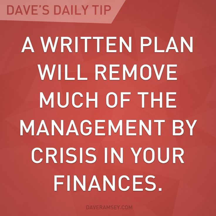 Living out of panic is unproductive.