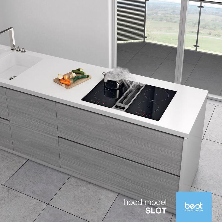 Jeśli cenisz minimalistyczne rozwiązania, to okap Best Slot, montowany w blacie, będzie dla Ciebie idealnym rozwiązaniem. #Innovation #BestHood #KitchenDesign #Kitchenhood #Design #interiordesign #Lifestyle #homelover