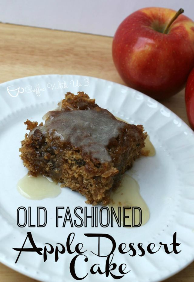 Old Fashioned Apple Dessert Cake with Hot Butter Sauce