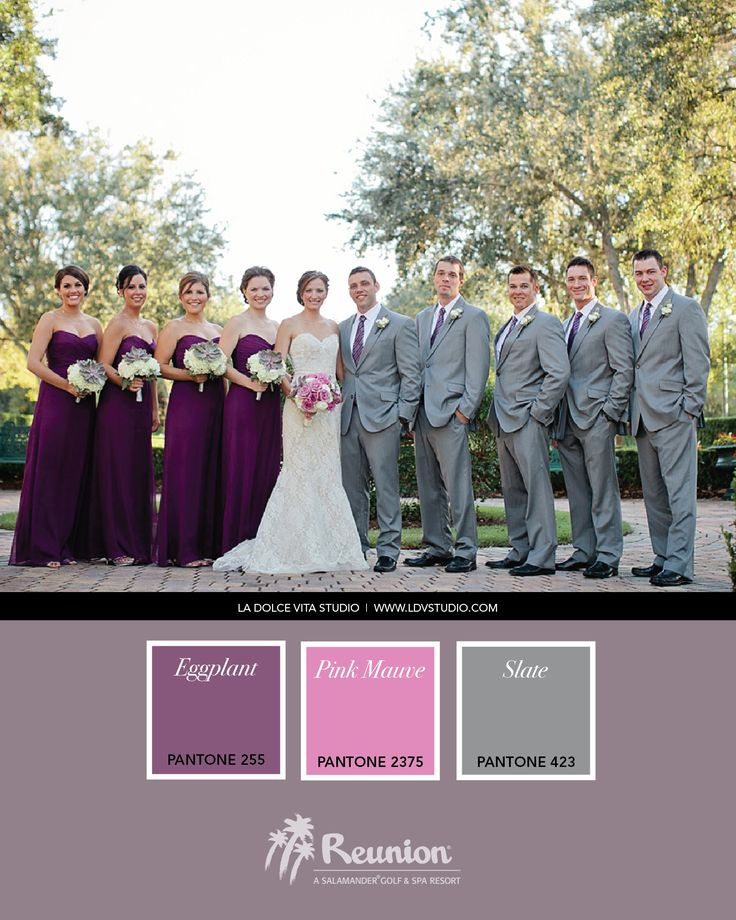 Wedding Color Palette: Purple, Pink & Gray