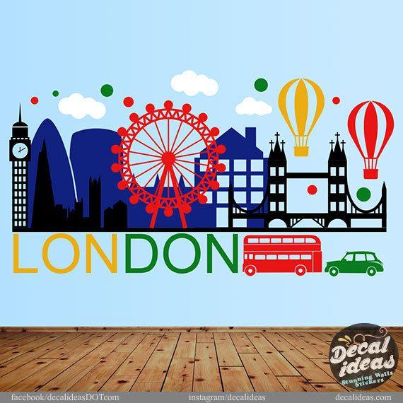 London Wall Decal London City Wall Sticker by StunningWalls