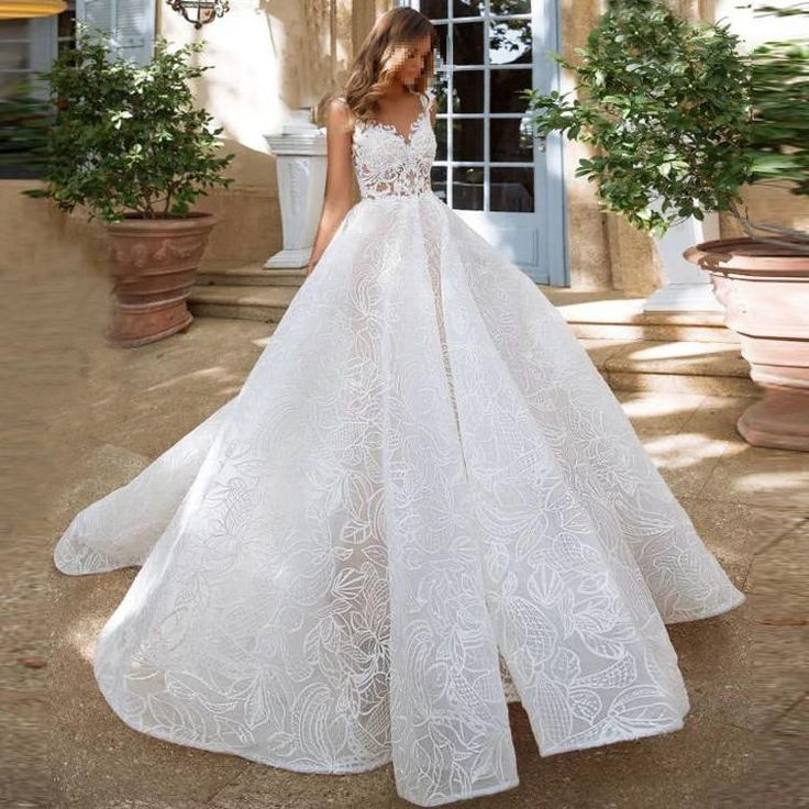 Simple special lace wedding dress 2019 new model