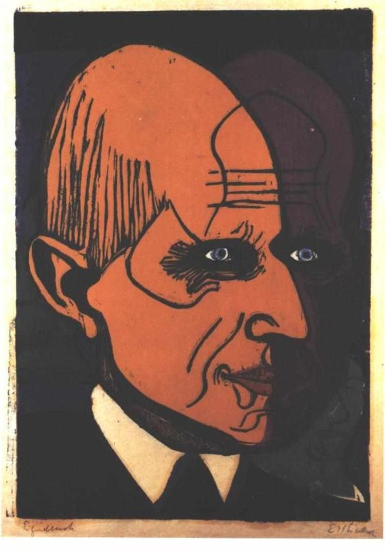www.gorringeantiques.co.uk Head of Dr. Bauer by Ernst Ludwig Kirchner (no date)