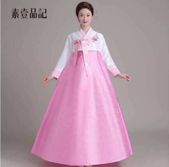 Hanbok Elbise Geleneksel Kore Ulusal Kostümleri Vestido de hanbok tradicional coreano trajes nacionales