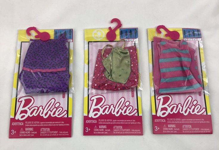 Mattel Barbie Lot of 3 Fashion Dress For all Body Types New #Mattel