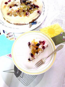 「ドライミックスフルーツのゼリーケーキ」kahvinporo | お菓子・パンのレシピや作り方【corecle*コレクル】