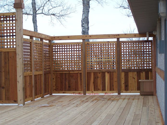 privacy deck idea: need to make this so we don't have to see the mess at the construction site