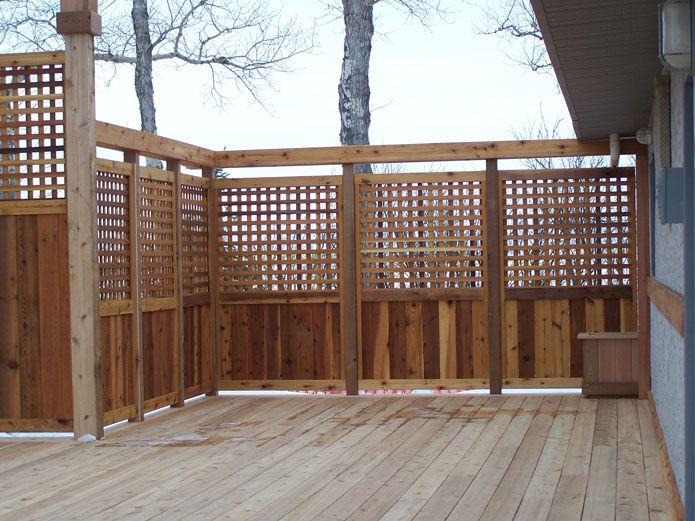 23 best hot tub images on pinterest decks backyard for Wood privacy screens for decks