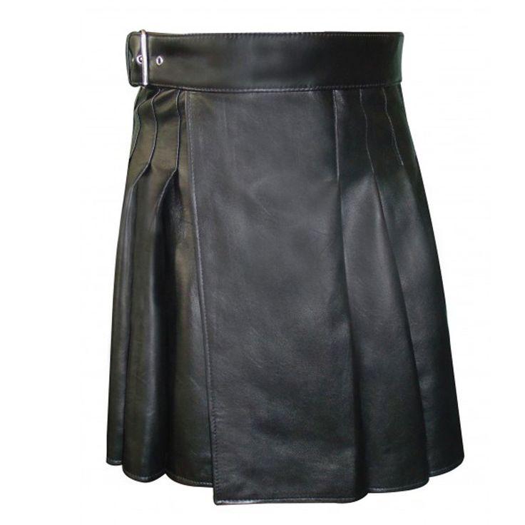 Royal Mens Cowhide Leather Kilt