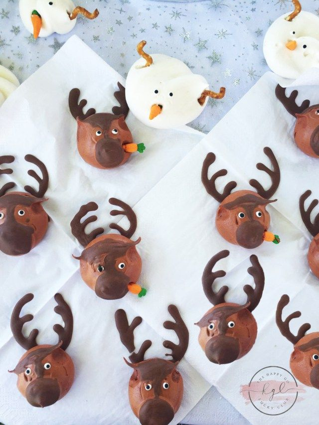 Frozen Party Olaf and Sevn Meringues
