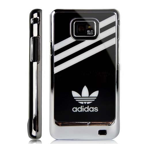 Sporty accessories for smart phones are always in demand and the adidas style is the most popular one in this context. The chrome edge hard case includes the adidas pattern at the heart of the case. A perfect match for a smart phone like Samsung Galaxy, S ll i9 100.      The hard case is made of high quality plastic that makes is durable from every angle. Both the front side and the backside of the phone are safe from scratches, bumps and shocks.