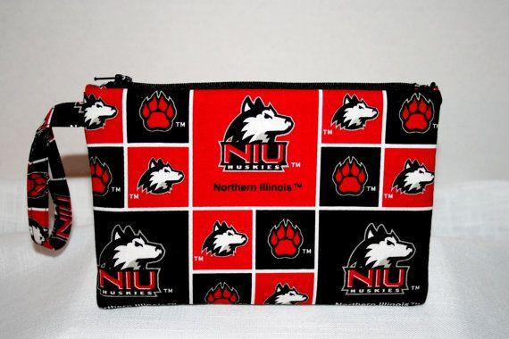 Northern Illinois University Huskies Wristlet by MeeMawsBags