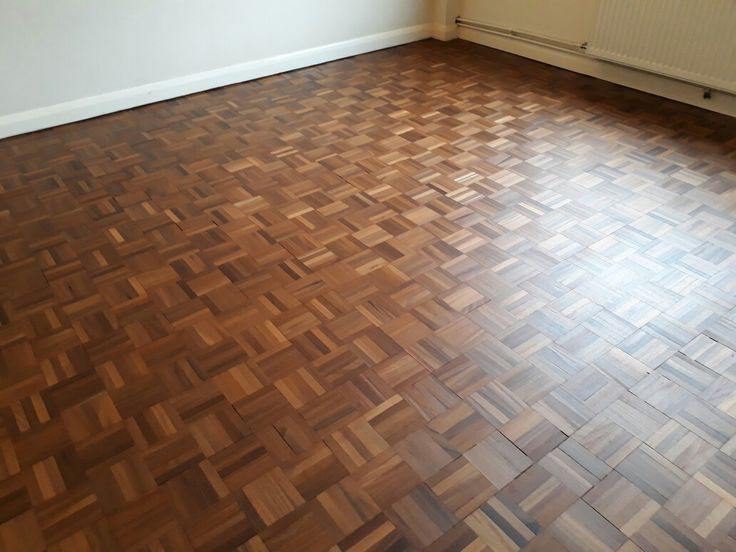 Parquet Finger block floor sanded and resealed