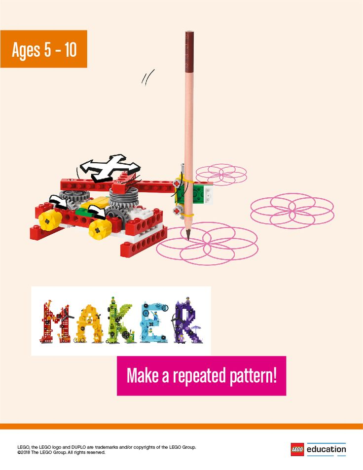 Have your students create beautiful patterns while learning about symmetry and building math skills. Work with them to determine a problem to solve, such as drawing circles, and then have each of them work independently to brainstorm possible solutions. One idea could be a motorized drawing machine that makes both simple circles and more complex shapes. They can tinker with LEGO® bricks or sketch out ideas and then share them in groups. Together, they'll decide the best idea to make.