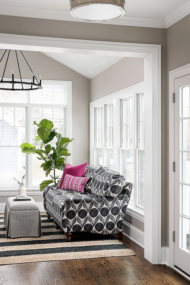 Incredible Benjamin Moore Smoke Embers Grey Walls With White Trim Grey Machost Co Dining Chair Design Ideas Machostcouk
