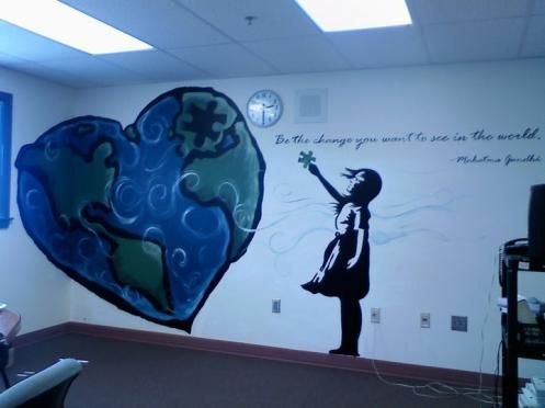 School mural, for empty wall by stairs on 3rd floor