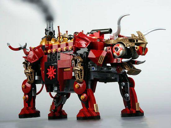 steampunk lego dinosaur (or is it a bull?)