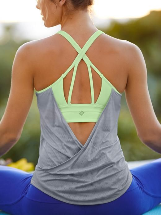 NEW | Athleta Full Force Tank Top | Cute workout clothes @ http://www.FitnessApparelExpress.com