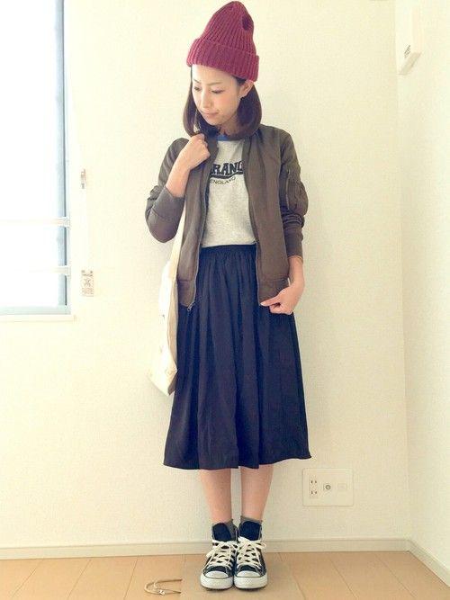 IMARIさんのミリタリージャケット「w closet 」を使ったコーディネート