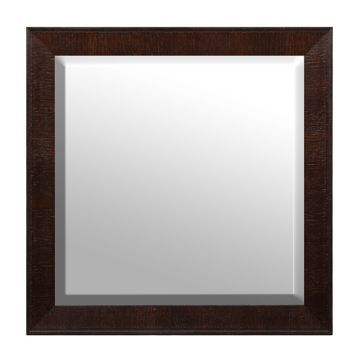 Dark Brown Framed Mirror, 32x32 | Kirklands